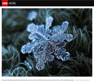 My snowflake published by CNN
