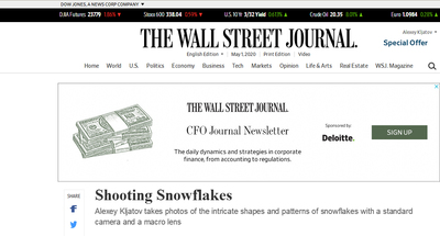 Publication in Wall Street Journal